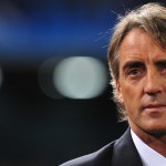Manchester City's Italian coach Roberto Mancini takes place prior the Champions League group A  football match Napoli vs Manchester City, on November 22, 2011 at theSan Paolo stadium in Naples . AFP PHOTO / ALBERTO PIZZOLI (Photo credit should read ALBERTO PIZZOLI/AFP/Getty Images)